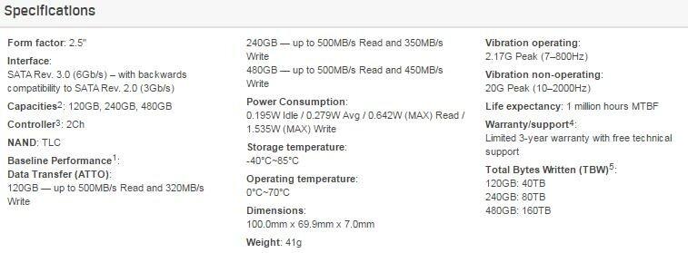 # Kingston A400 SATA/ 2.5' SSD # 120GB/ 240GB/ 480GB