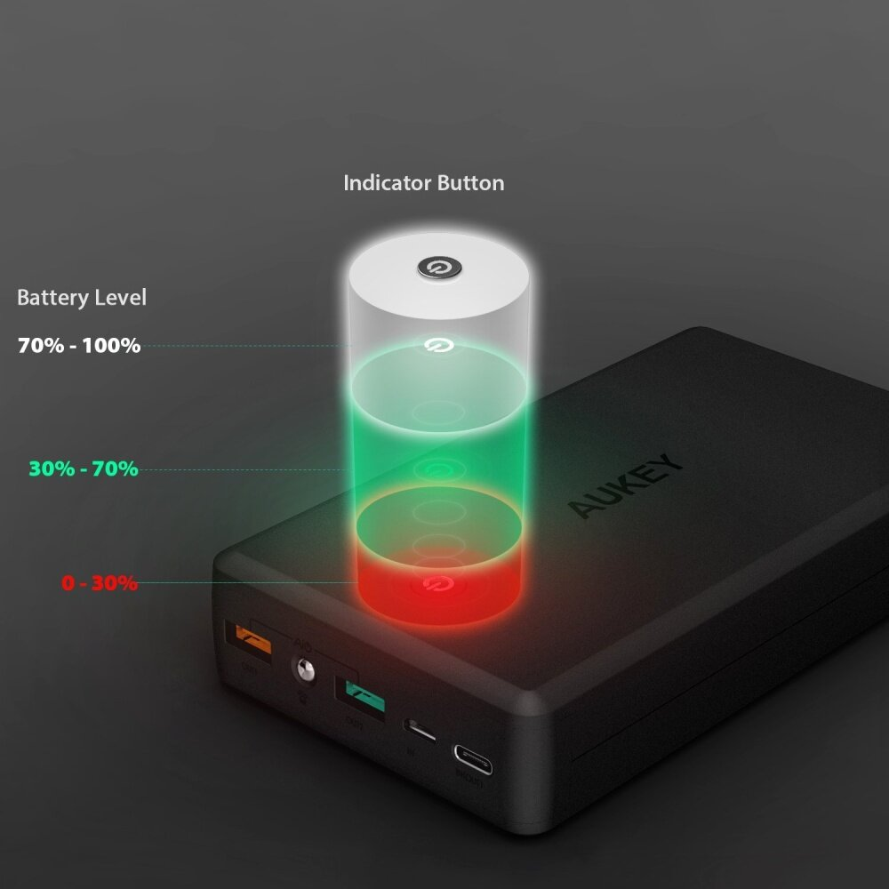 Uneed Powerbank 12000mah Qualcomm Quick Charge 30 Red Daftar Quickbox 12 Black Aukey 30000 Mah Type C Only Rm 249 Free