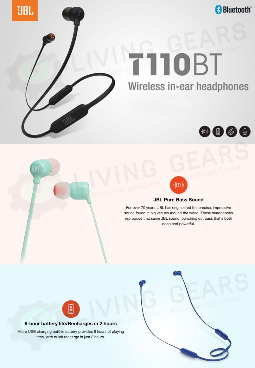 Harga terbaik GENUINE JBL EVEREST ELITE 100 IN-EAR WIRELESS