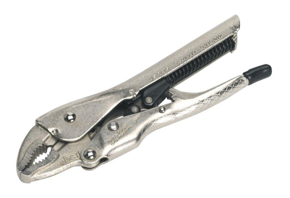 Yarmo Sealey Locking Pliers Self-Adjusting 165mm Curved Jaw AK6860 AK6860-30