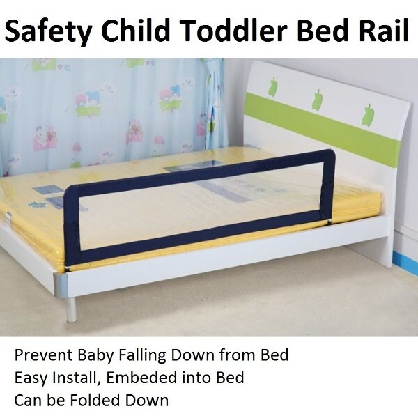 Child Toddler 150cm Safety Bed Rail Baby Bedrail Fold Cot Guard Protection