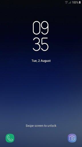 Lock screen UI