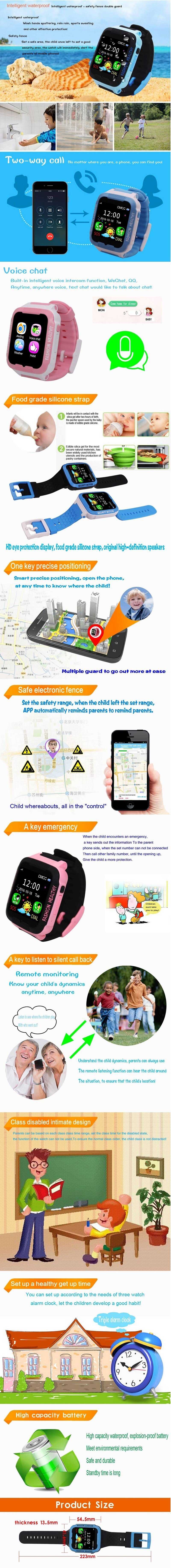 4882e8b9f04906 GPS Tracker: Smart tracker, you can always observe your children position,  do not worry about the child lost. You can set the electronic fence, ...