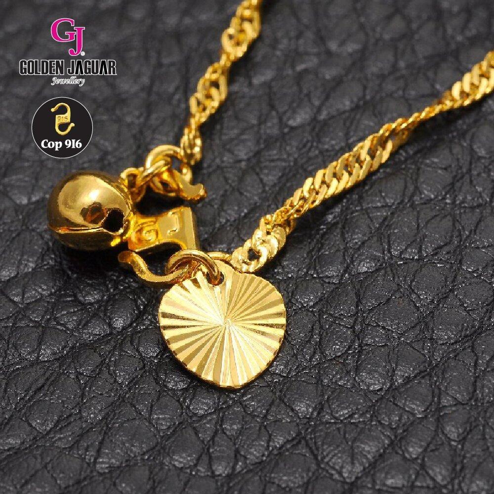Emas Korea Golden Jaguar Fashion Gila H Anklet Cocoa Jewelry Rules Of Love Bracelet Breakcrumb Watches Sunglasses Jewellery Women Anklets
