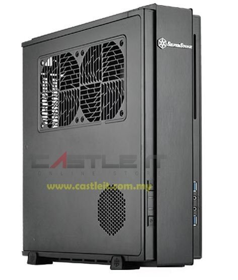 SILVERSTONE Casing Mini-ITX (SST-ML07B) BLACK