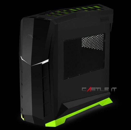 SILVERSTONE Casing ATX RVX01 WINDOW (SST-RVX01BV-W) GREEN TRIM