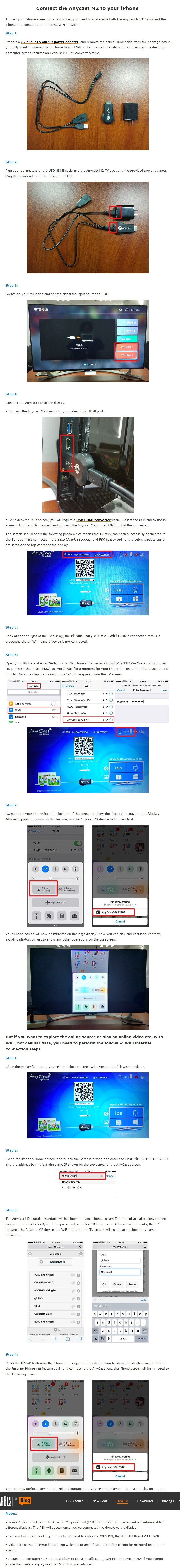 AnyCast M3 Plus Dual Core H265 1080p Airplay MiraCast Wifi Wireless Display  Dongle