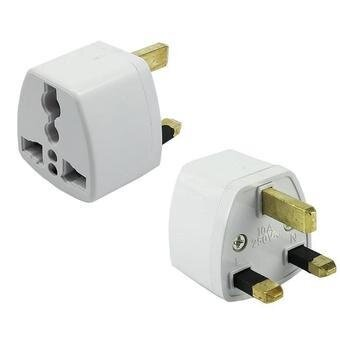 2 Pcs UK 3 Pin Travel Universal Plug Socket Adapter