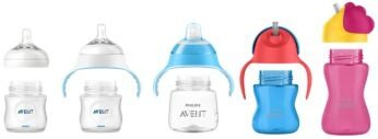 Compatible with Philips Avent bottles and cups