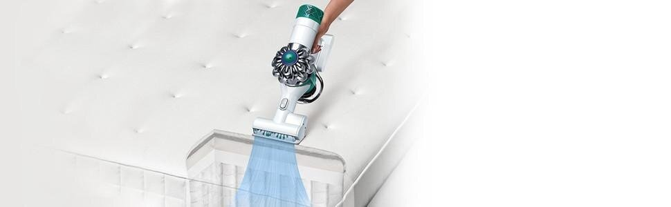 powerful suction reduces house dust allergens v6 mattress
