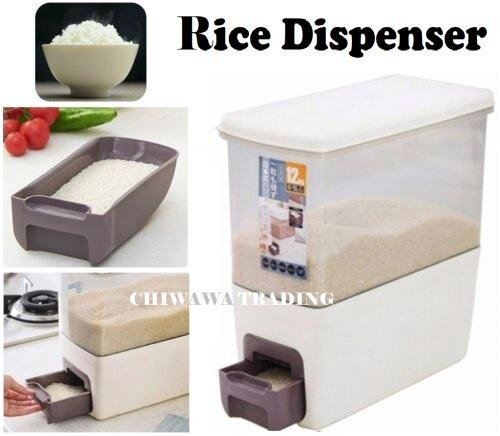 Rice Container 12KG - Click to view full size photo