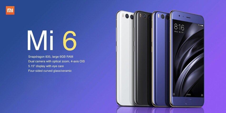 Xiaomi Mi6 Mi 6 Ceramic 5.15-inch 6GB RAM 128GB ROM Snapdragon 835 Octa Core 4G Smartphone
