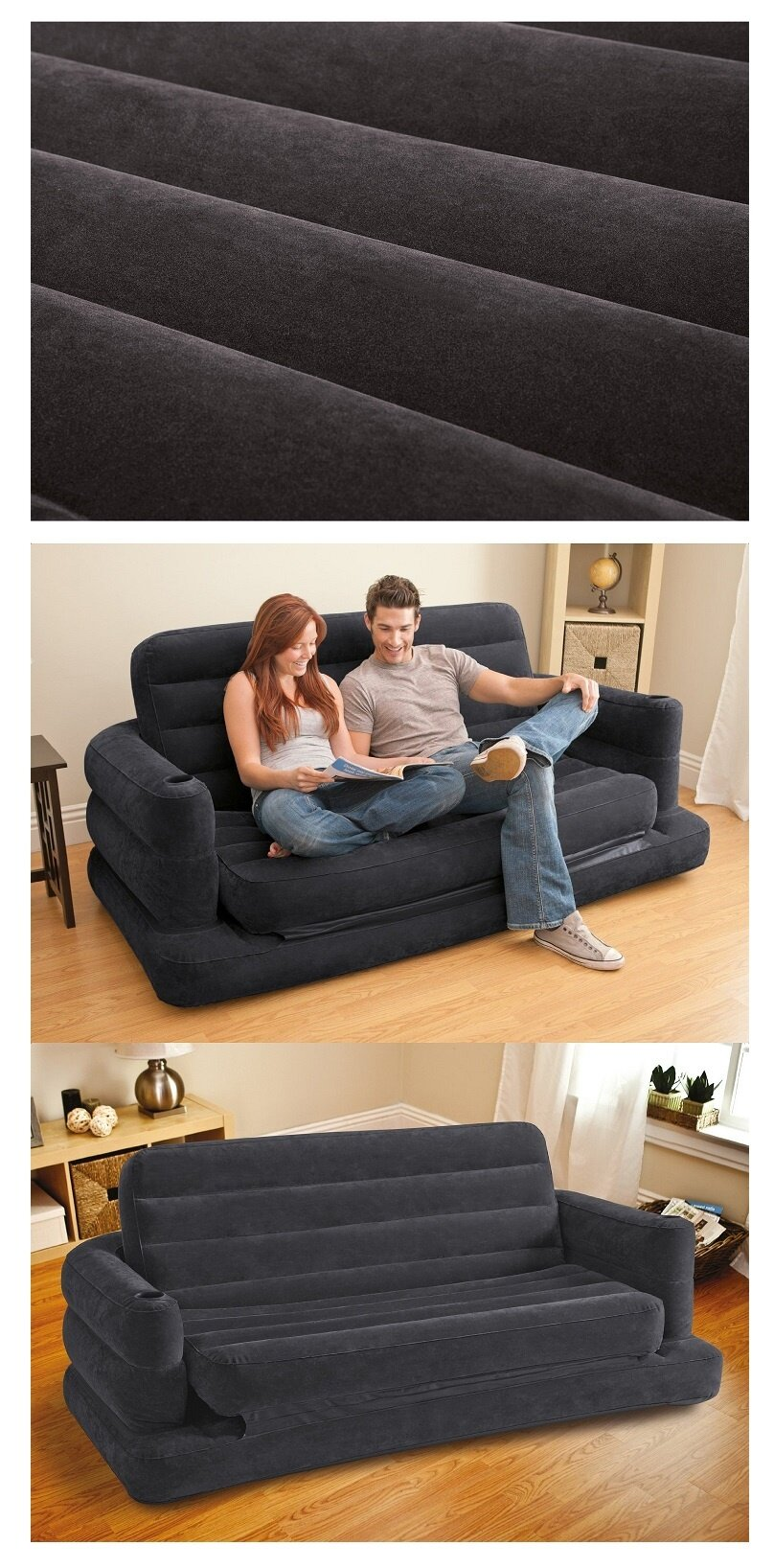 1 x Intex Inflatable Pull Out Sofa Bed