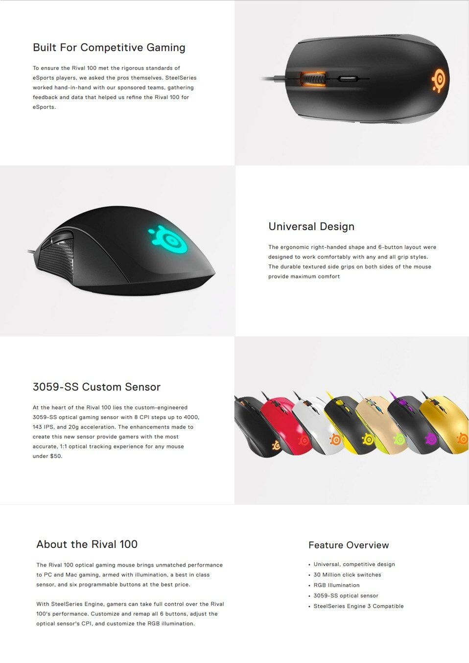 Steelseries Rival 100 Alchemy Gold Dota 2 Specifications