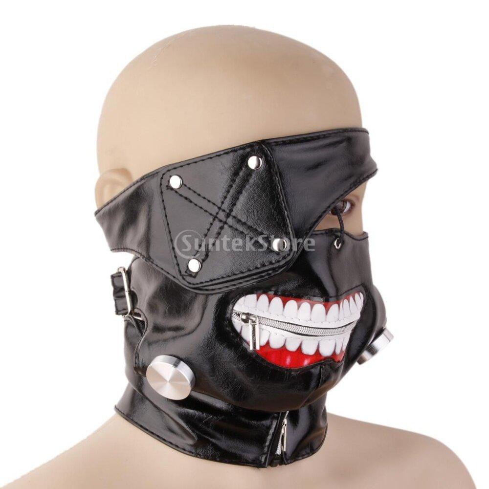 Tokyo Ghoul Kaneki Ken Cosplay Party Adjustable Zipper Mask ...