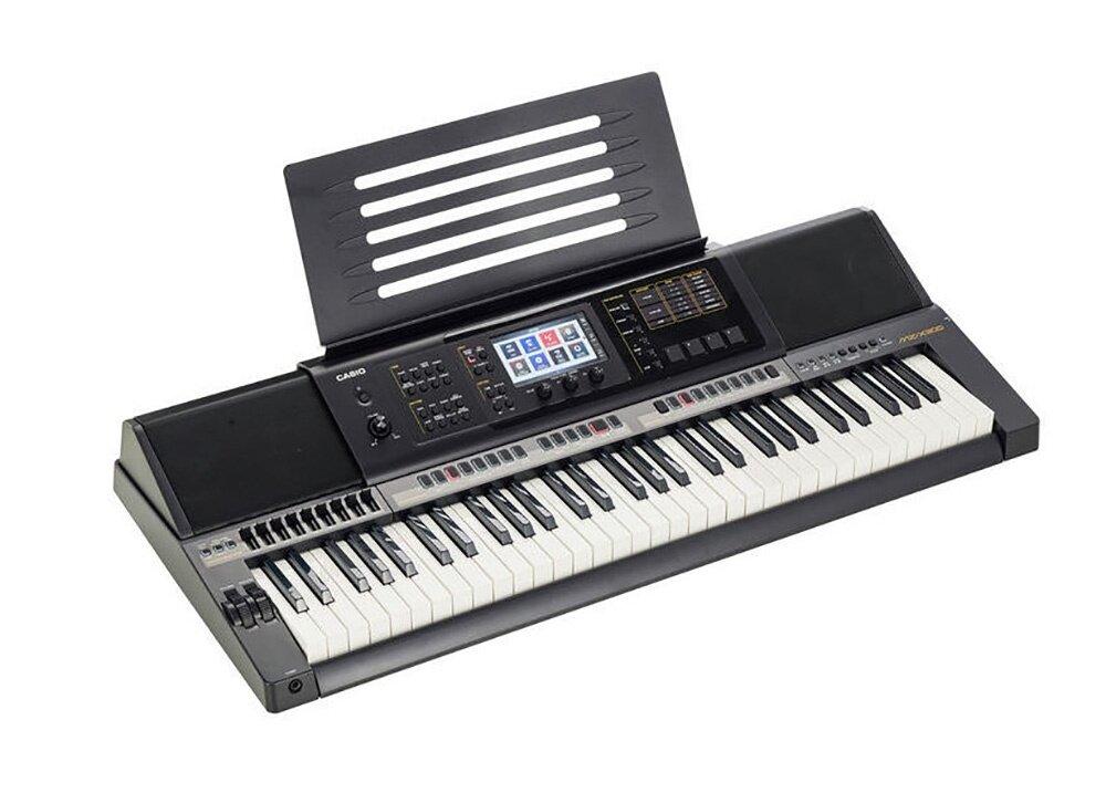 61 Key Casio MZ-X300 Electronic Keyboard Piano Organ 900 Preset Tones 280 Rhythms 4Phrase Pads Color Touch LCD XY-Graph Parametric EQ Drabar Organ Real Time