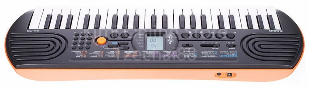 44 Key SA-76 Orange Mini Electronic Keyboard Piano Organ LCD 8 Note Polyphony 100 Tones 50 Patterns 10 Song One Touch Switch