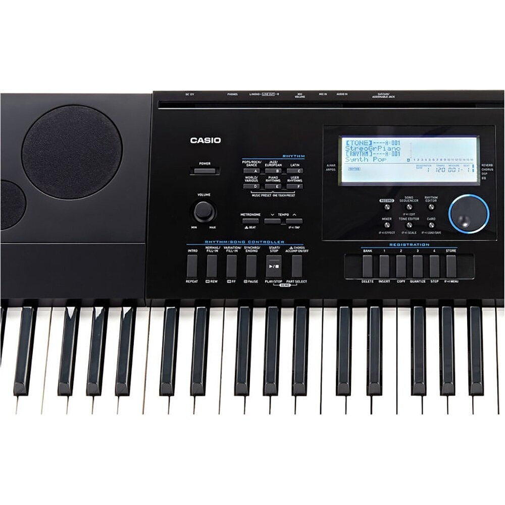 76 Key WK-6600 Casio Electronic Keyboard Piano Organ 670 Tones 200 Rhythms 5 Demo Tone Speed Dial Tone Editor rhythm Editor