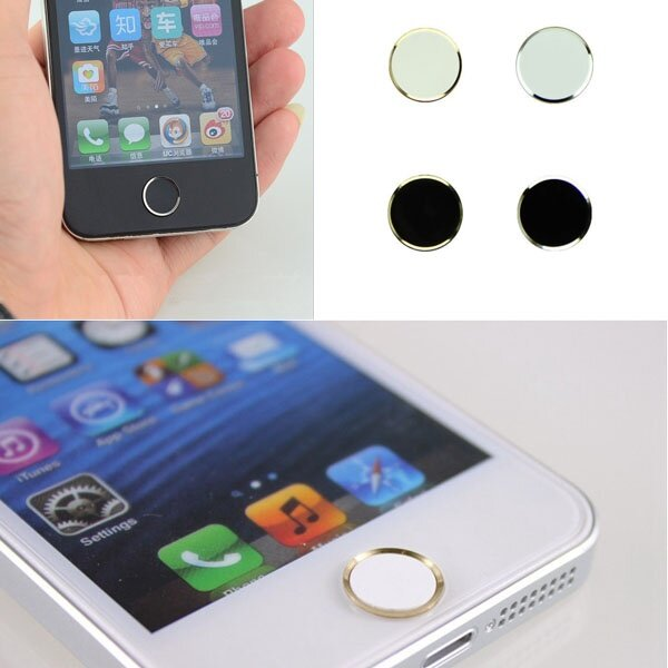 Fang Fang 4PCS Metal Home Button Sticker for iPhone 5 5S (Black+ ...