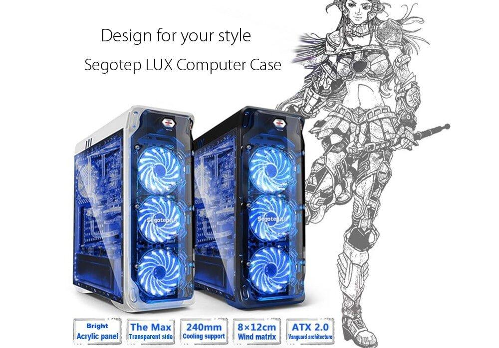 Segotep LUX PC Tower Case Desktop Box