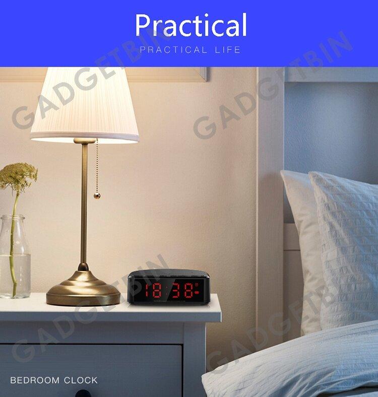 Wireless Desktop Bluetooth Time LED Display Alarm Clock ...