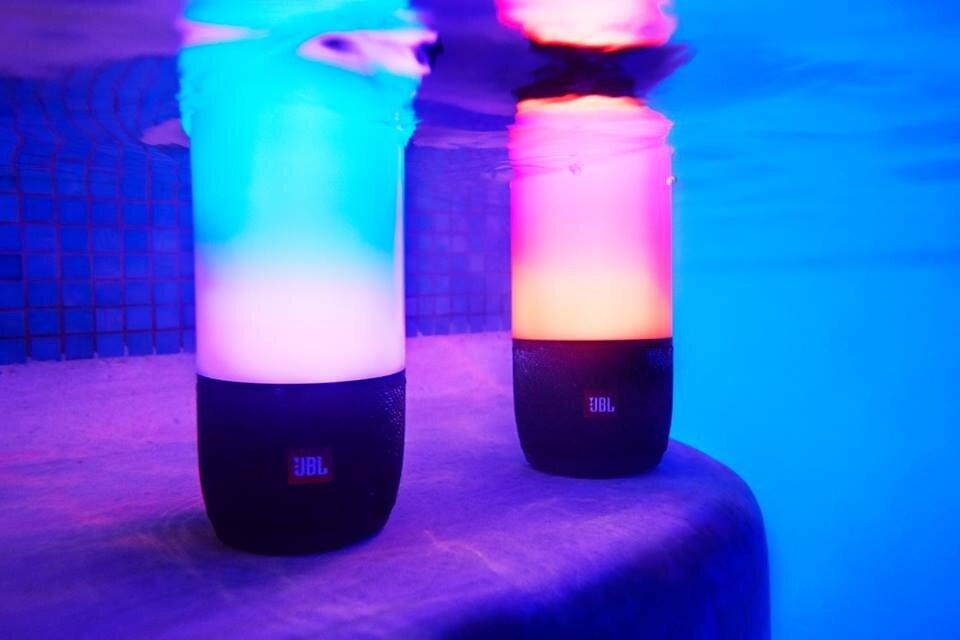 JBL Pulse 3 Wireless Waterproof Portable Bluetooth Speaker ... Jbl Portable Speakers Light Up