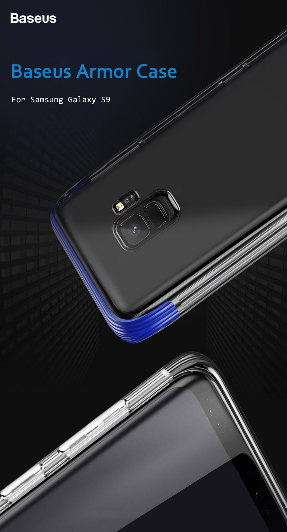 Baseus Armor Case TPU Transparent Anti-slipping Shell for Samsung Galaxy S9