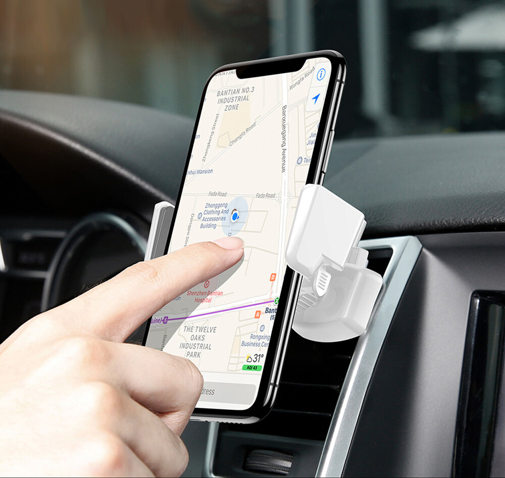 Baseus Robot Air Vent Car Mount Phone Holder Auto Clip Stand 360 Degree Rotation Bracket