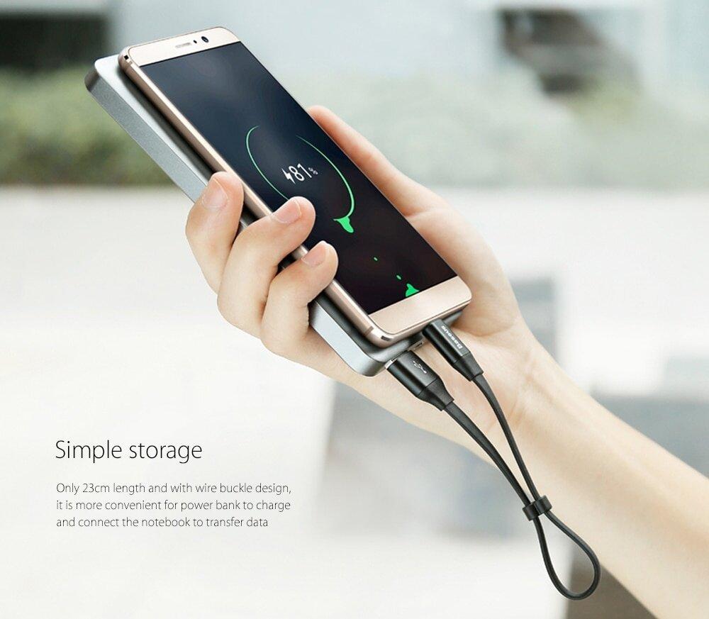 Baseus Nimble Type-C Transfer Data Synchronization Charging Cord 23cm