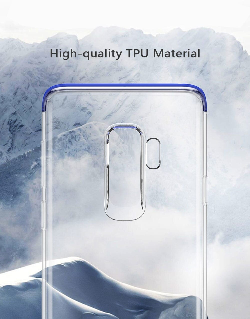 Baseus Armor Case TPU Transparent Anti-slipping Shell for Samsung Galaxy S9 Plus
