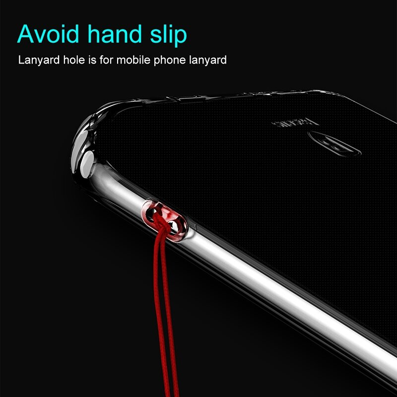Baseus Transparent Soft TPU Ultra-thin Shockproof Back Cover Case for Samsung Galaxy S8 Plus