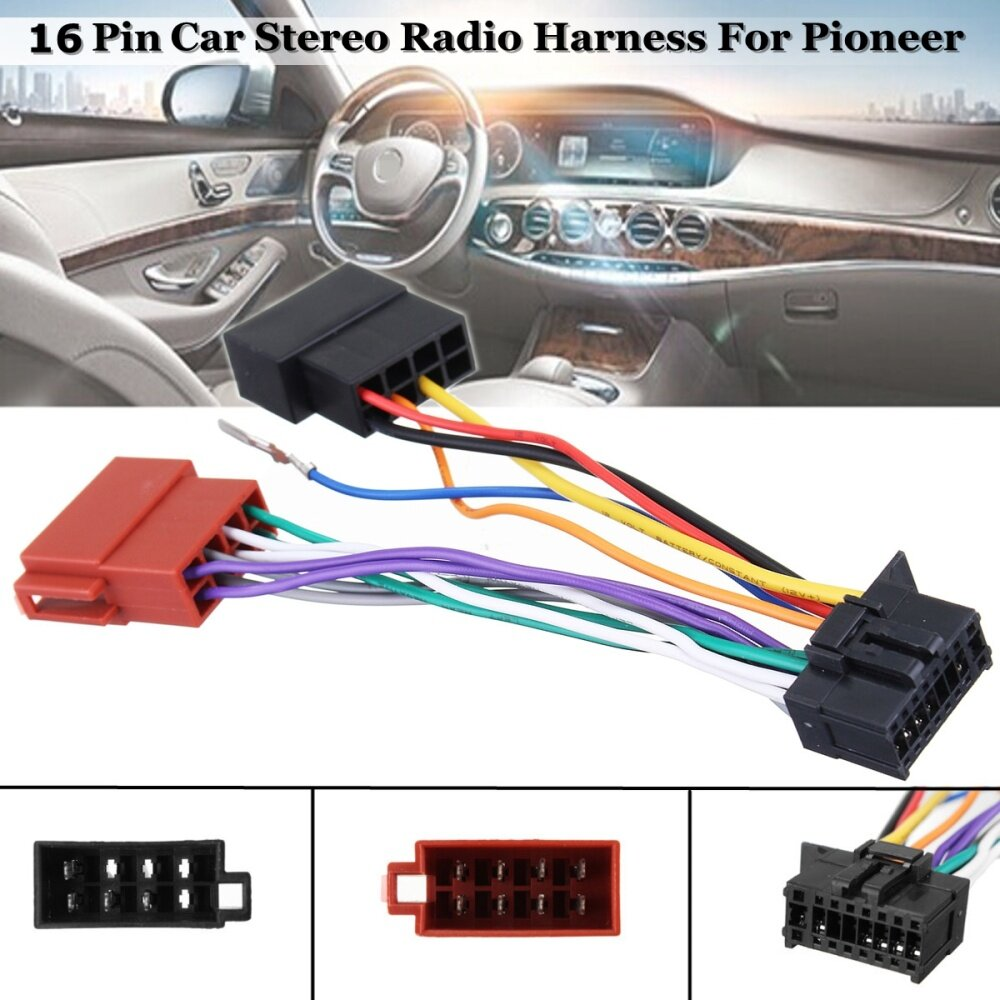 Buy Generic Car Stereo Radio Player Iso Wiring Harness Connector 16 For Audio Image