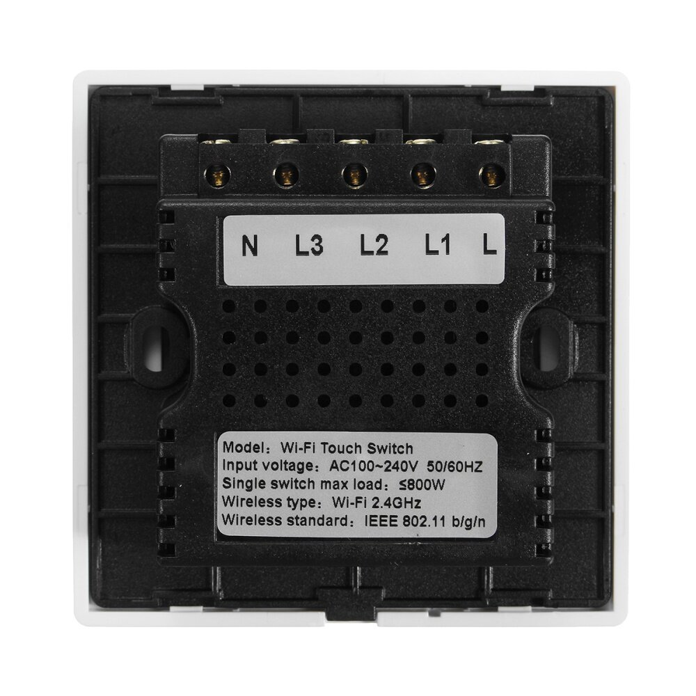 Buy Generic Smart Panel Switch Uk Type Gang 3 Best Price Online Wire Light L1 L2 L3 Image