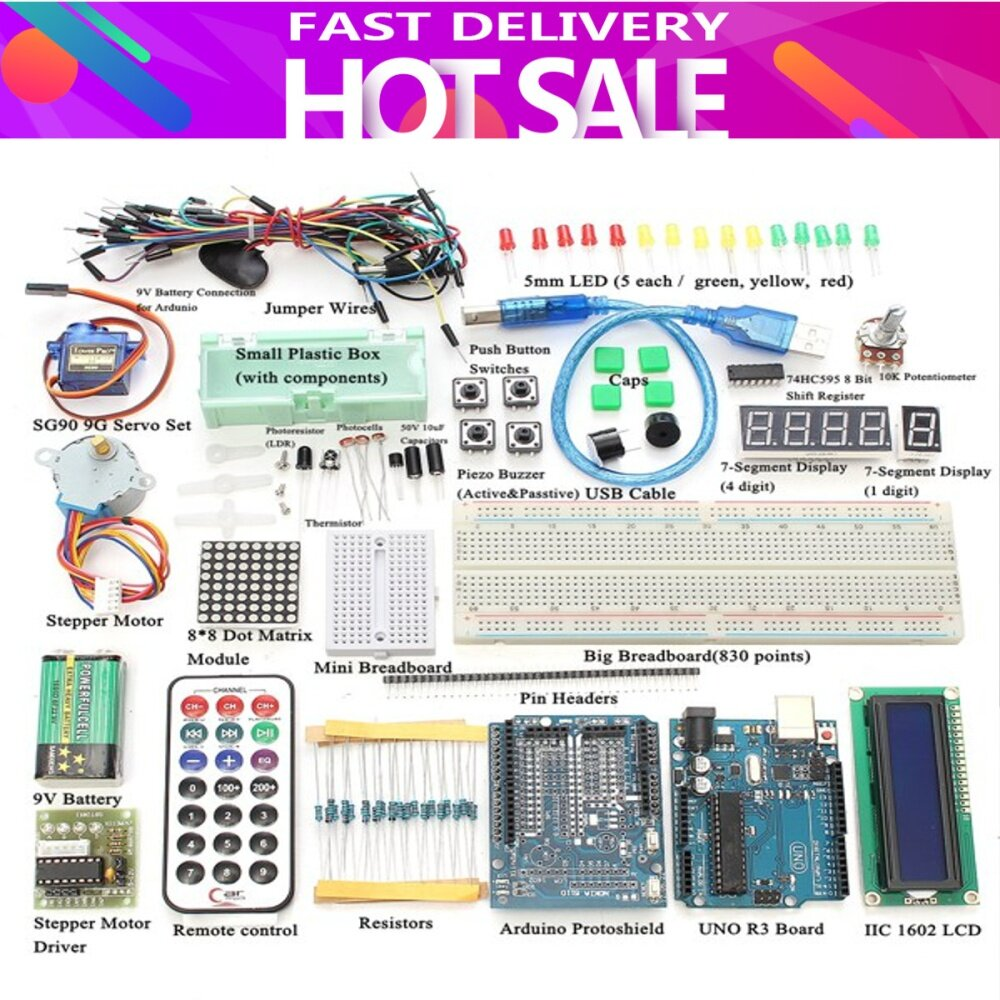 Buy Generic New Ultimate Uno R3 Starter Kit For Arduino 1602 Lcd Thermistor 10k Circuit To Image