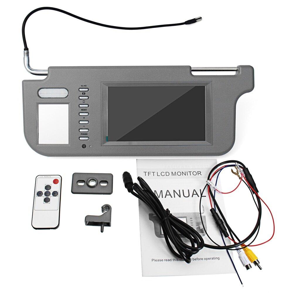 Buy Generic 7 Car Visor Monitor 2 Channel Screen 1440 X 234 Tft Lcd Wiring Image
