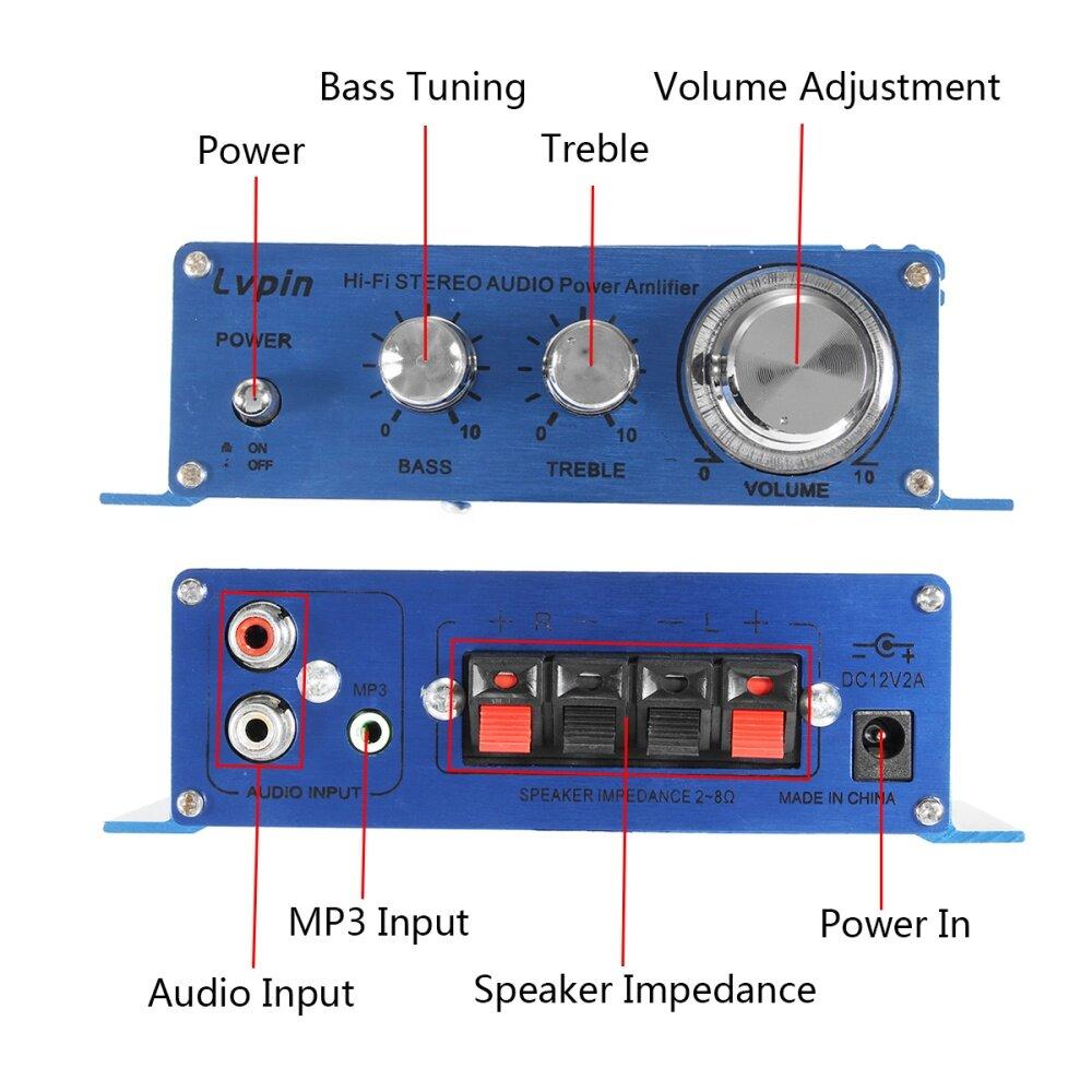 Buy Generic Car Home 12v 30w 2 Channel Hi Fi Audio Stereo Power Bass Treble Circuit Image