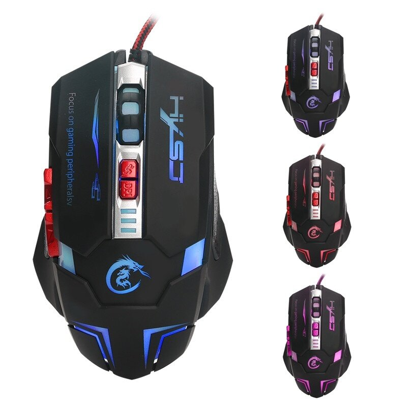 Generic 7 button LED variable light gaming mouse Ergonomic