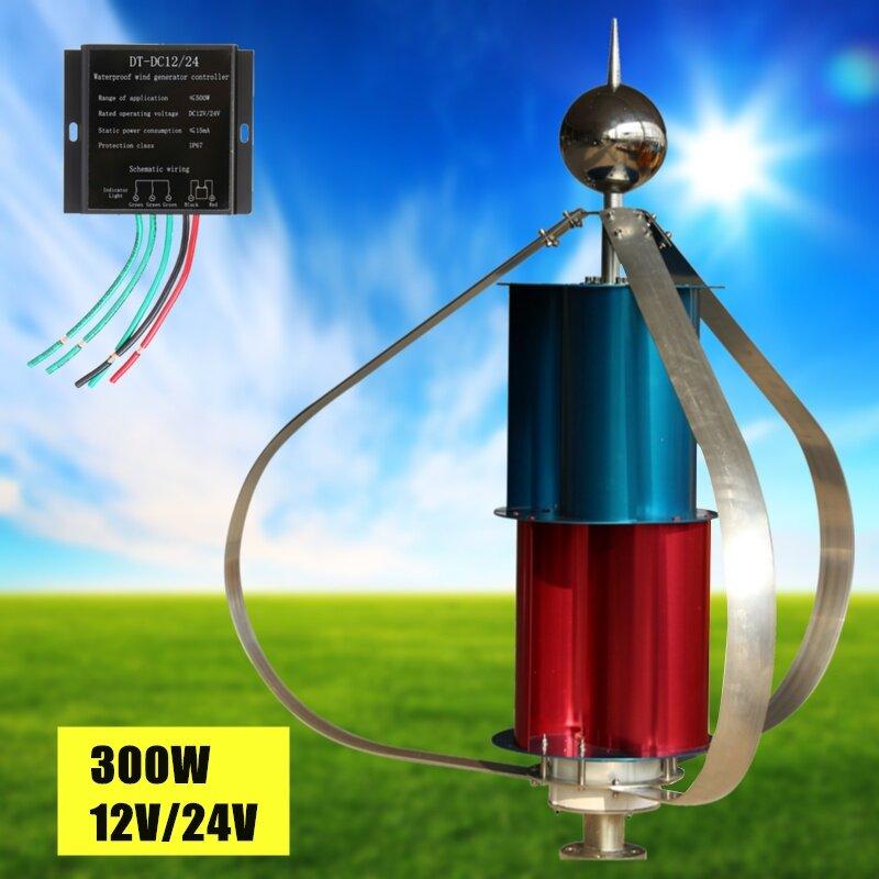 Generic 300W 12V/24V Vertical Axis Wind Turbine Generator Permanent