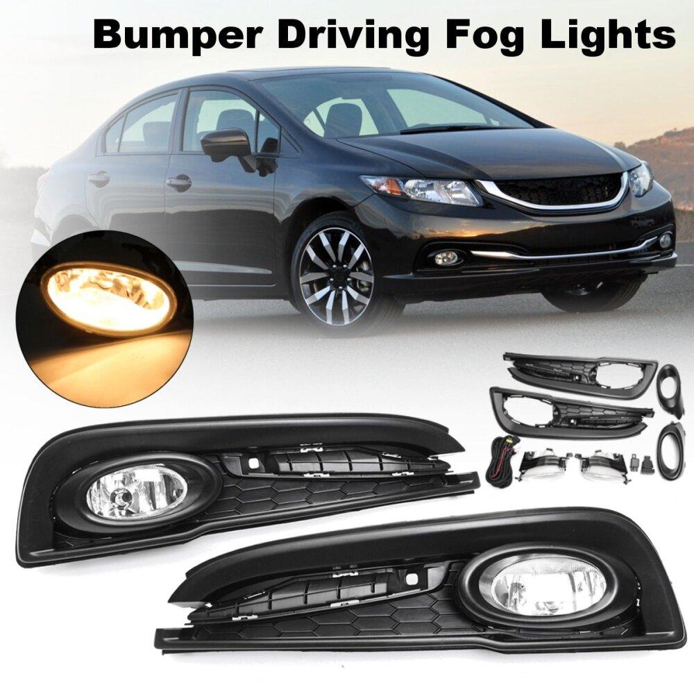 Bulbs Yellow 13-15 Honda Civic 4DR Fog Lights w/ Wiring Kit