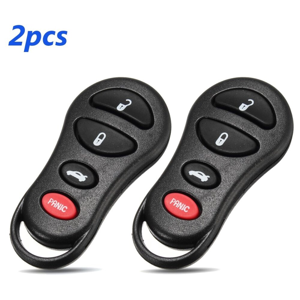 Generic 2pcs 3+1Button Entry Remote Car Key Fob for Jeep