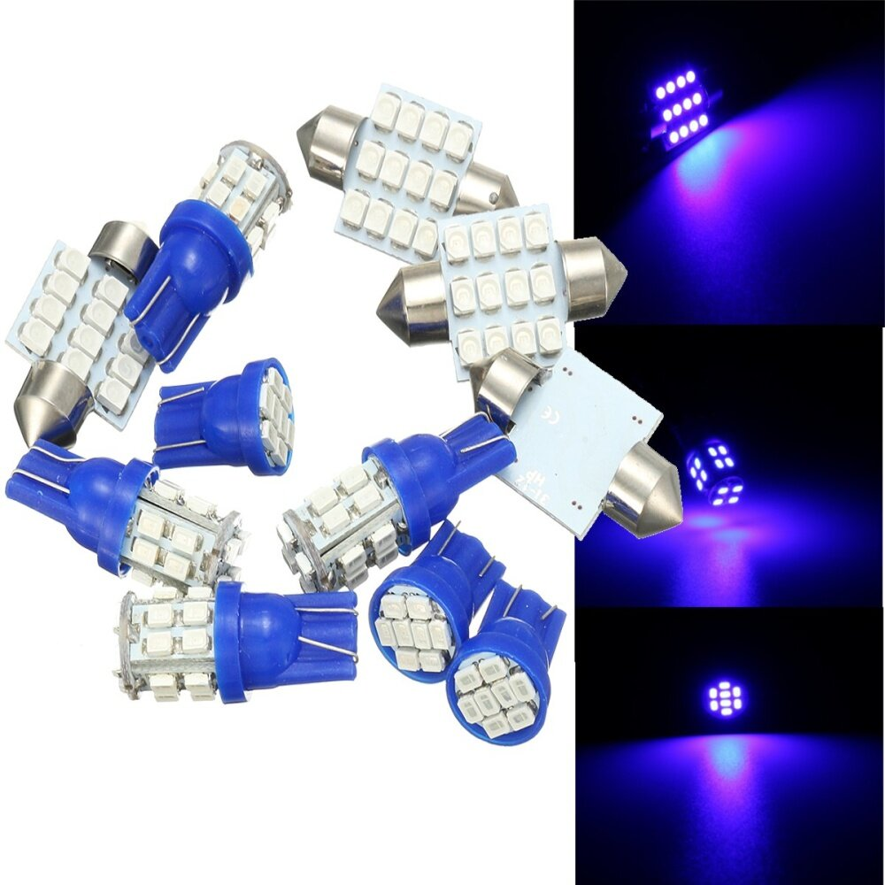 Buy UNIVERSAL 11PCS GREEN LED Lights Interior Package For T10 & 31mm ...