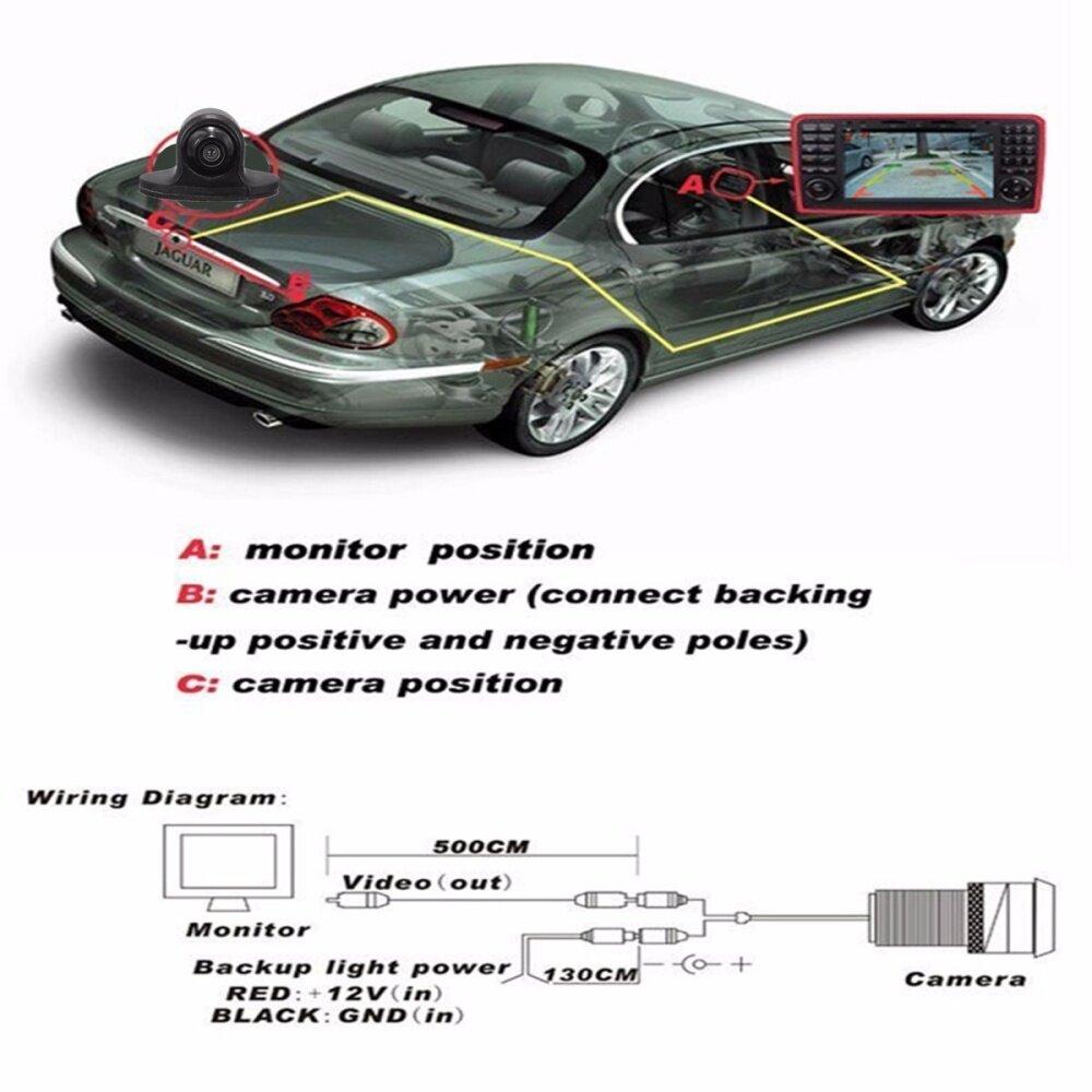 Buy Generic Mini Hd 360 Car Rear View Reverse Backup Camera Side Wiring Diagram Image