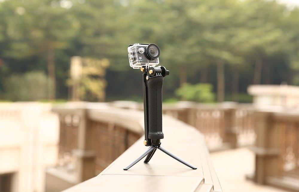 SHOOT 3 Way Grip Waterproof Monopod Selfie Stick for GoPro HERO5 / 4 / 3 Session SJ4000 Xiaomi Yi 4K Camera Tripod GoPro A